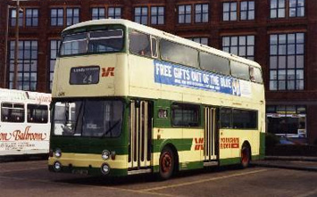 591 in Leeds City Bus Station